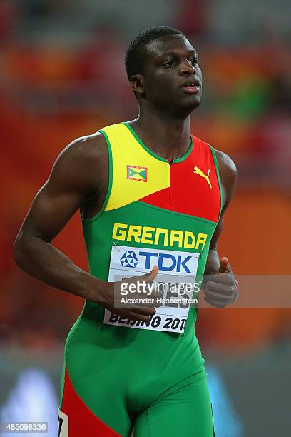 Kirani James of Grenada competes in the Men's 400 metres Semi Final during day three of the 15th IAAF World Athletics Championships Beijing 2015 at...