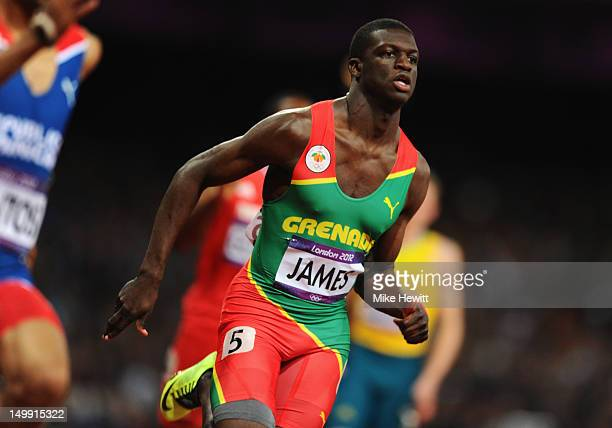 Kirani James of Grenada competes in the Men's 400m final on Day 10 of the London 2012 Olympic Games at the Olympic Stadium on August 6 2012 in London...