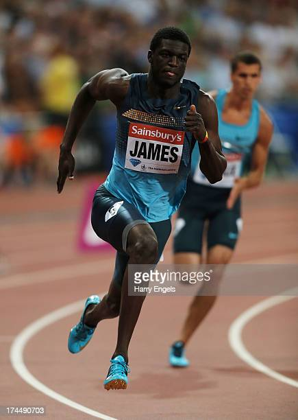 Kirani James of Grenada competes in the Men's 400m on day one during the Sainsbury's Anniversary Games IAAF Diamond League 2013 at The Queen...
