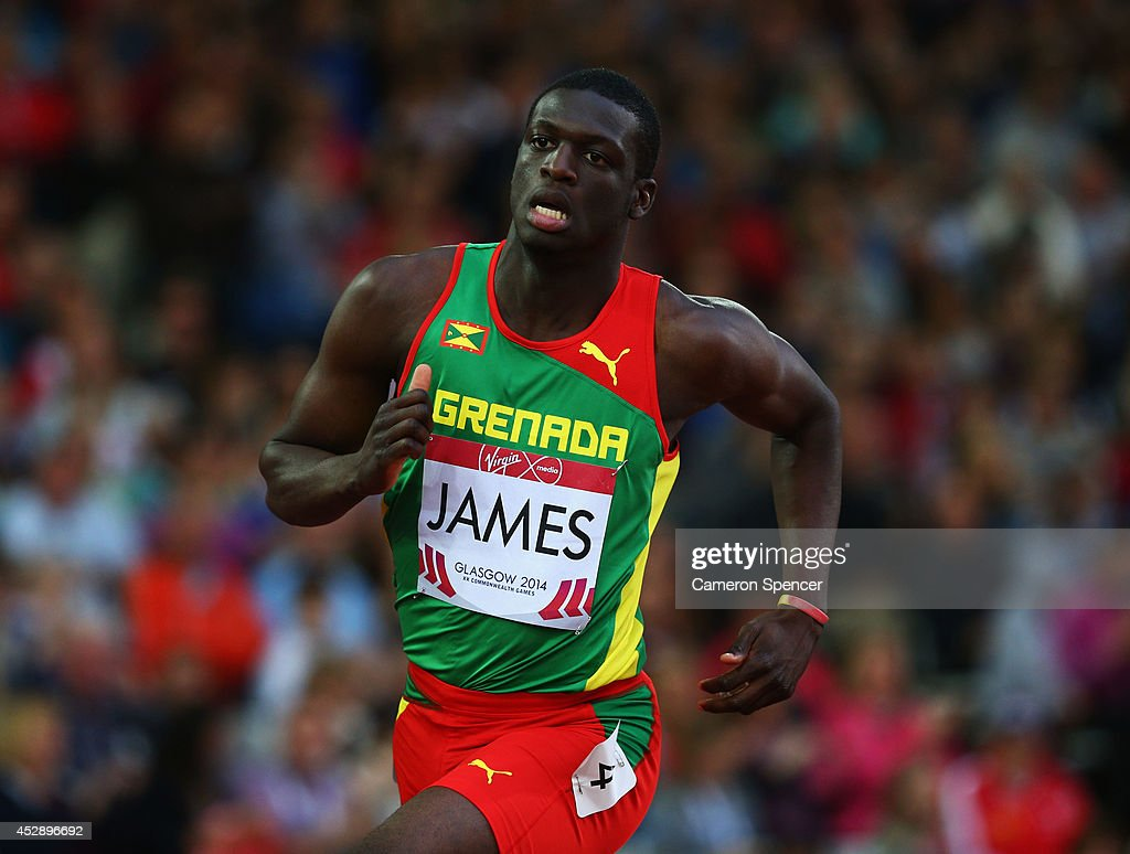 <a gi-track='captionPersonalityLinkClicked' href=/galleries/search?phrase=Kirani+James&family=editorial&specificpeople=5432961 ng-click='$event.stopPropagation()'>Kirani James</a> of Grenada in the Men's 400 metres semi-final at Hampden Park during day six of the Glasgow 2014 Commonwealth Games on July 29, 2014 in Glasgow, United Kingdom.