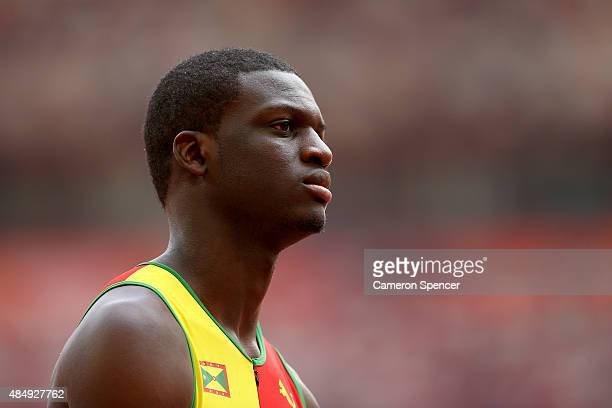 Kirani James of Grenada looks on after competing in the Men's 400 metres heats during day two of the 15th IAAF World Athletics Championships Beijing...