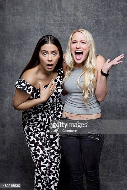 Kirby Bliss Blanton and Lorenza Izzo of 'The Green Inferno' poses for a portrait at ComicCon International 2015 for Los Angeles Times on July 9 2015...