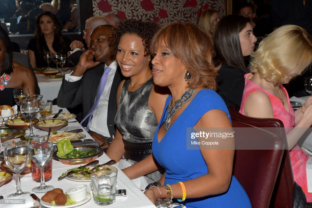 Kirby Bumpus and <a gi-track='captionPersonalityLinkClicked' href=/galleries/search?phrase=Gayle+King&family=editorial&specificpeople=215469 ng-click='$event.stopPropagation()'>Gayle King</a> attends the Celebrating The Arts In American Dinner Party With Distinguished Women In Media Presented By Landmark Technology Inc. And The Creative Coalition at Neyla on April 26, 2013 in Washington, DC.