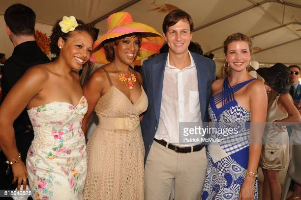 Kirby Bumpus Gayle King Jared Kushner and Ivanka Trump attend 2010 VEUVE CLICQUOT Polo Classic at Governors Island on June 27 2010 in New York City