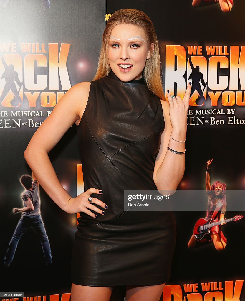 <a gi-track='captionPersonalityLinkClicked' href=/galleries/search?phrase=Kirby+Burgess&family=editorial&specificpeople=11187245 ng-click='$event.stopPropagation()'>Kirby Burgess</a> arrives ahead of We Will Rock You Opening Night at Lyric Theatre, Star City on May 5, 2016 in Sydney, Australia.