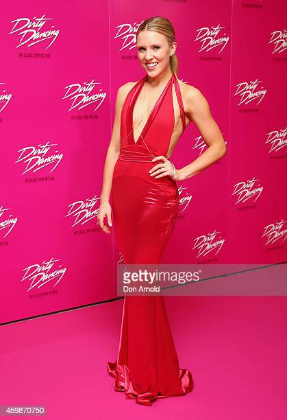 Kirby Burgess arrives for the 10th anniversary tour of Dirty Dancing at Sydney Lyric Theatre on December 3 2014 in Sydney Australia