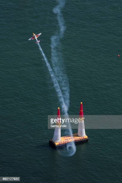Kirby Chambliss of the United States competes during the third stage of the Red Bull Air Race World Championship on June 4 2017 in Chiba Japan