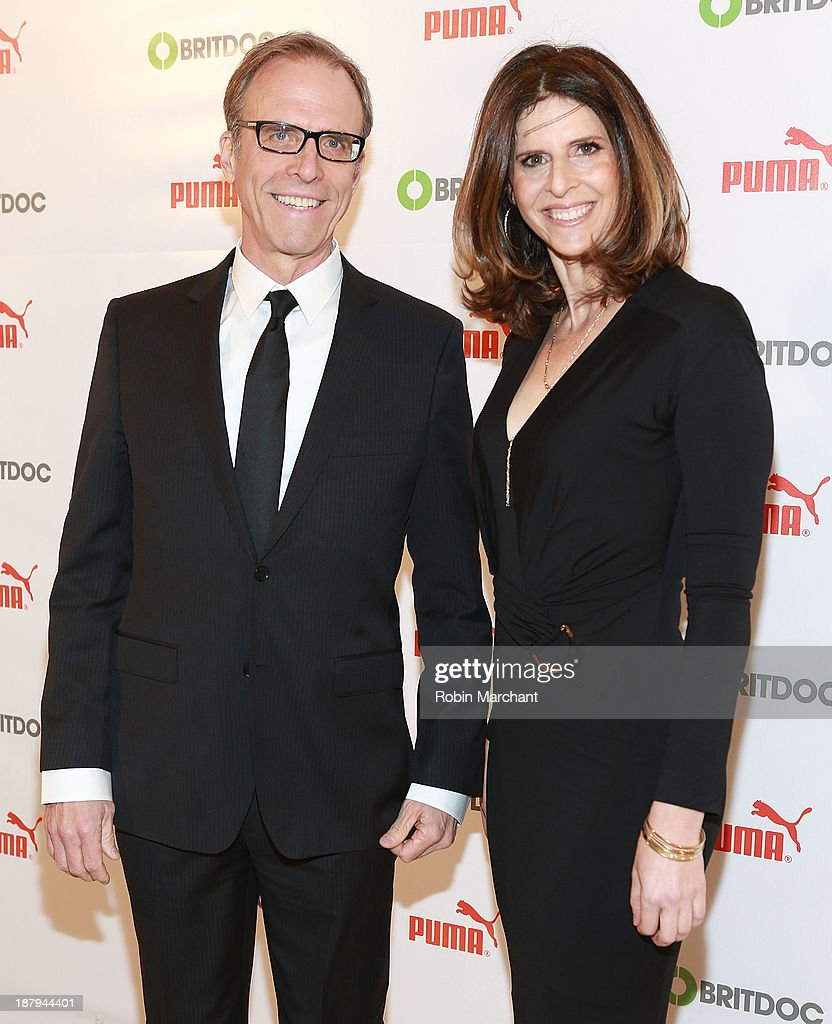 Kirby Dick and Amy Ziering Kofman attend PUMA Impact Awards at Times Center on November 13 2013 in New York City