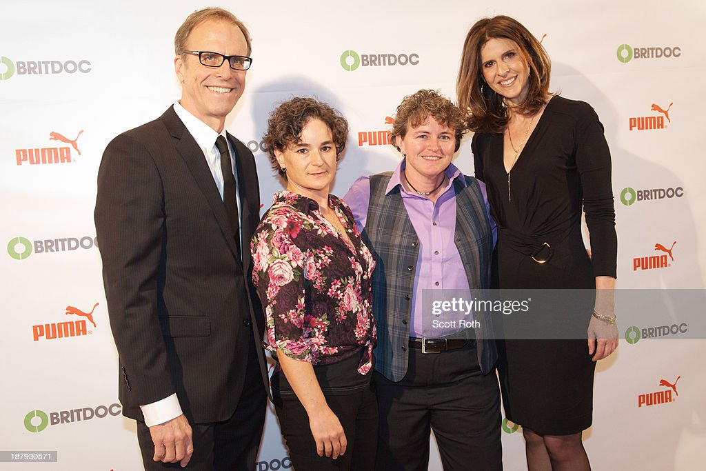Kirby Dick Guest Trina McDonald and Amy Ziering Kofman attend the PUMA Impact Award 2013 at TheTimesCenter on November 13 2013 in New York City