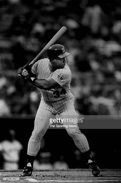 Kirby Puckett of the Minnesota Twins bats circa 1980s
