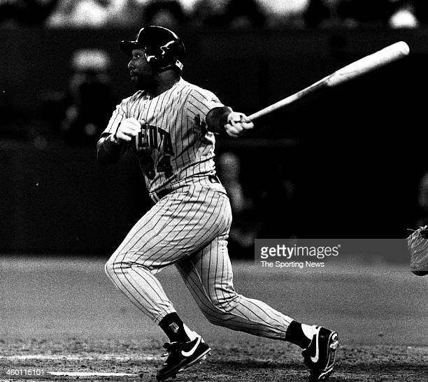 Kirby Puckett of the Minnesota Twins circa 1991