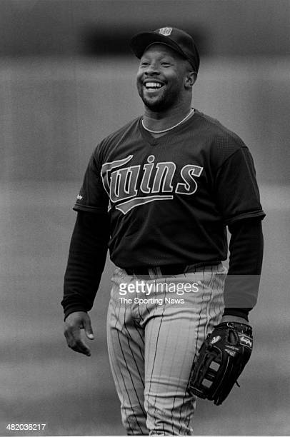 Kirby Puckett of the Minnesota Twins laughs circa 1980s