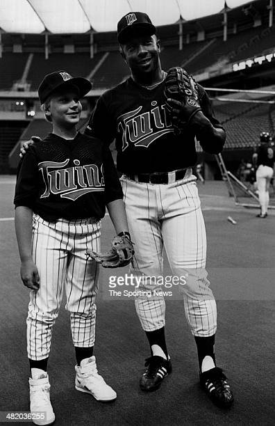 Kirby Puckett of the Minnesota Twins poses for a photo circa 1980s