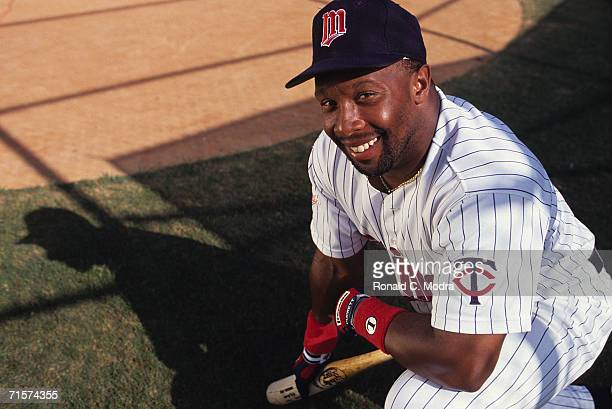 Kirby Puckett of the Minnesota Twins poses on March 10 l992 in Ft Meyers Florida