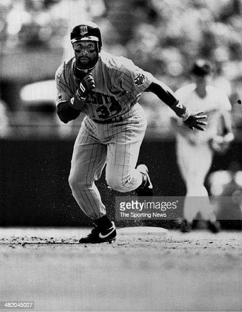 Kirby Puckett of the Minnesota Twins runs circa 1980s