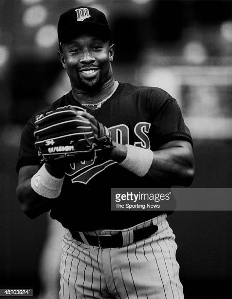 Kirby Puckett of the Minnesota Twins smiles circa 1980s