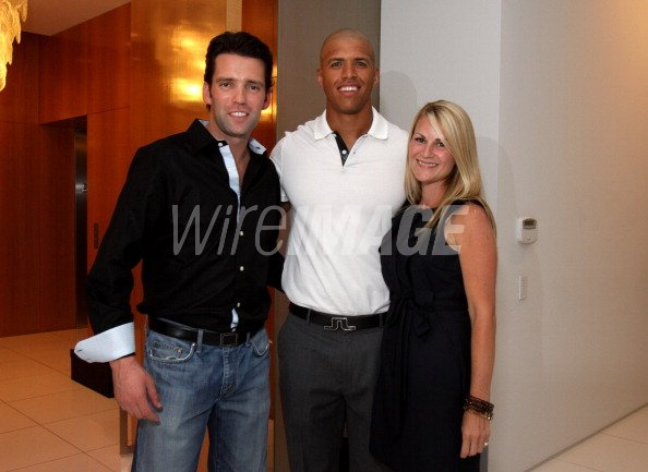 Kirby Schlegel Dallas Cowboy Miles Austin And Stephanie Hodges Kennedy Attend The Vogue Net A Porter Spring Summer 2010 Collection Preview Event At