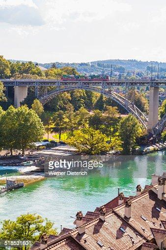 Kirchenfeldbruecke bridge and Aare River, Bern