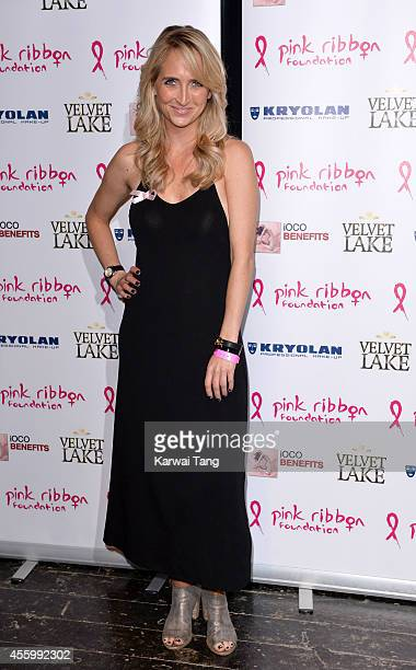 Kiri Bloore attends the Pink Ribbon 2014 Launch Party For Breast Awareness Month at Gilgamesh on September 23 2014 in London England