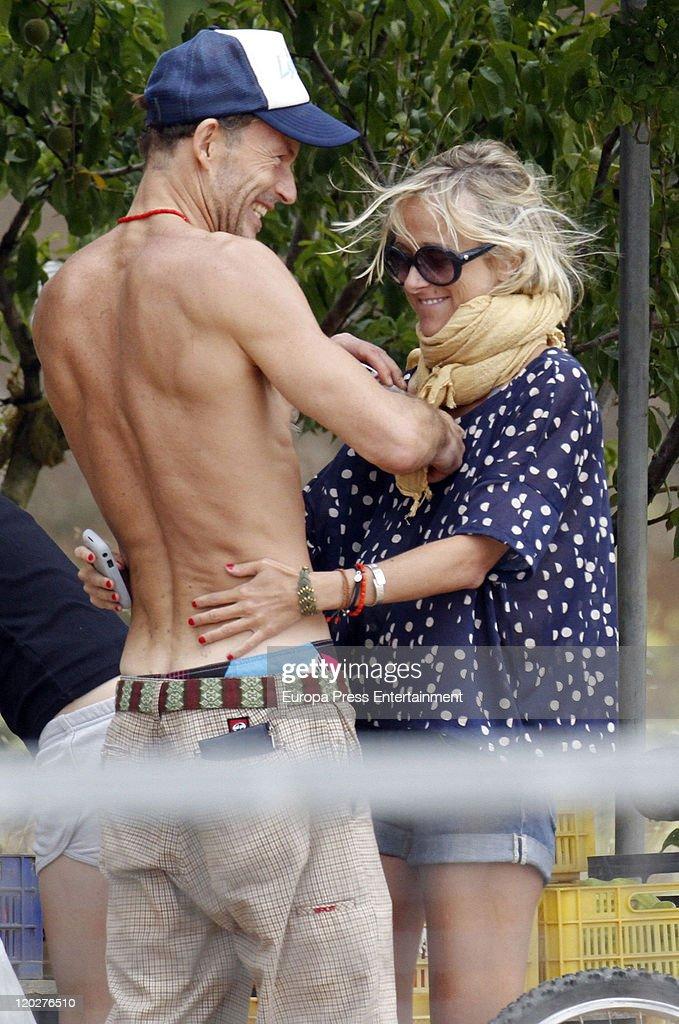 Kirill de Bulgaria (L), and girlfriend Cristina Tunon are seen on August 03, 2011 in Palma De Mallorca, Spain.