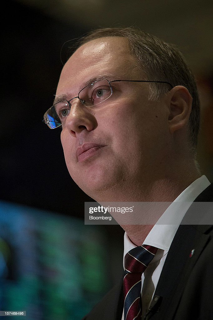 Kirill Dmitriev, chief executive officer of Russian Direct Investment Fund (RDIF), pauses during an interview at the New York Stock Exchange (NYSE) in New York, U.S., on Monday, Dec. 3, 2012. Russia Day 2012 is dedicated to providing in-depth perspectives on the recent and anticipated changes in economic development in Russia while allowing participants to discuss strategic opportunities with market leaders, investors and top-level government officials. Photographer: Scott Eells/Bloomberg via Getty Images
