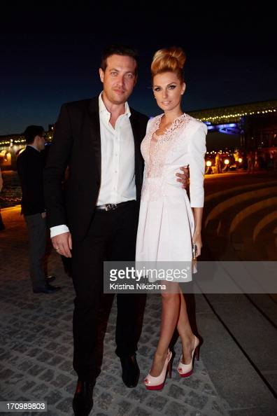 Kirill Safonov and Alexandra Savelieva attend Moscow International Film Festival on opening night on June 20 2013 at Pushkinsky Cinema in Moscow...