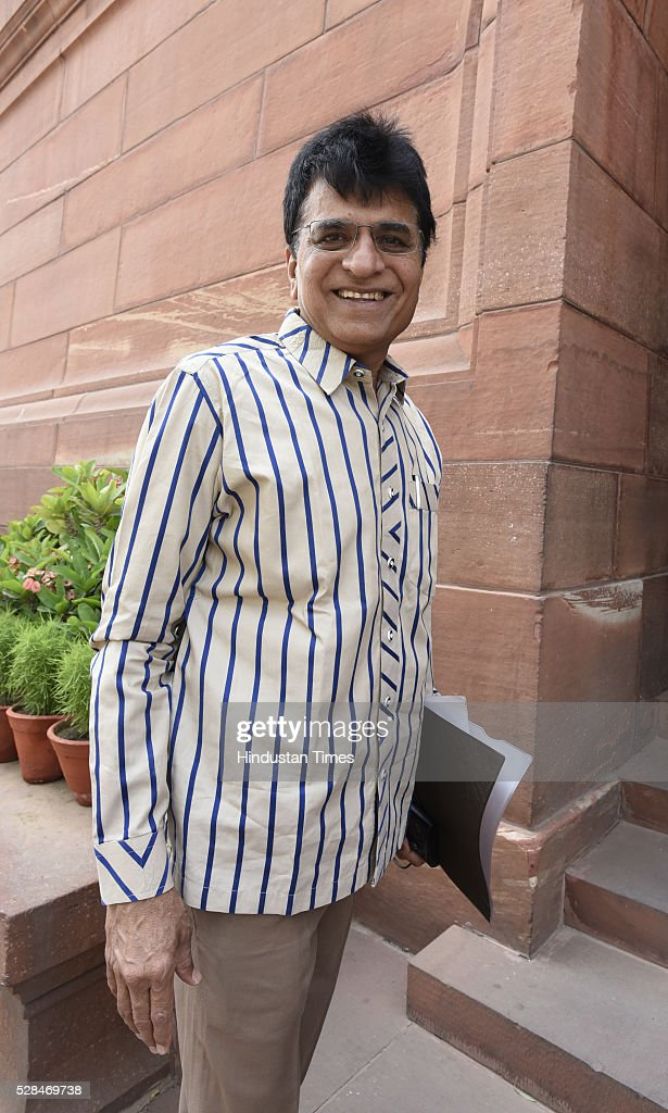 Kirit Somaiya arrives for the Parliament Session at Parliament house on May 5, 2016 in New Delhi, India. The Lok Sabha has passed the Insolvency and Bankruptcy code 2016 with all the amendments proposed by the joint committee of Parliament being accepted by the government.