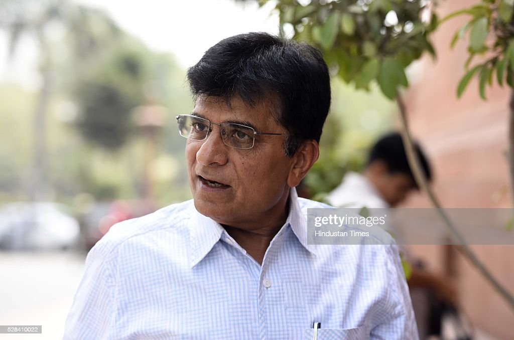 Kirit Somaiya during the Parliament session on May 4, 2016 in New Delhi, India. Congress walks out of the House demanding time-bound Supreme Court-monitored CBI probe on the AgustaWestland helicopter deal.