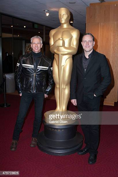 Kirk DeMicco and and Chris Sanders arrive for the 86th Annual Academy Awards Oscar Week Celebration of Animated Features at AMPAS Samuel Goldwyn...