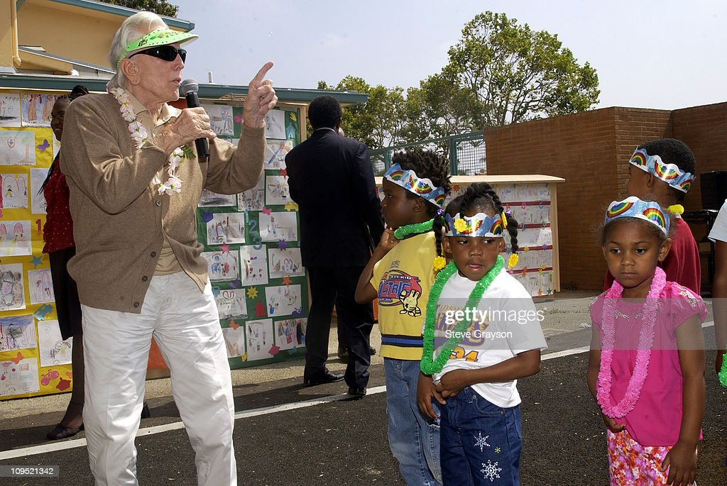 Kirk Douglas and Anne Douglas Donate Playground Equipment To South Los Angeles School