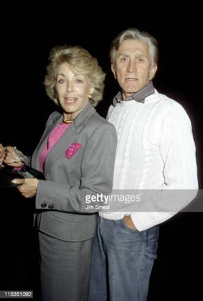 Kirk Douglas and Anne Douglas during Kirk Douglas and wife at Spagos Restaurant November 3 1986 at Spago's Restaurant in Hollywood California United...