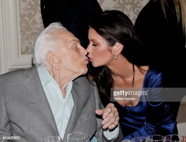 Kirk Douglas and Catherine ZetaJones attend the Los Angeles Mission Legacy of Vision Gala at Four Seasons Hotel Los Angeles at Beverly Hills on...