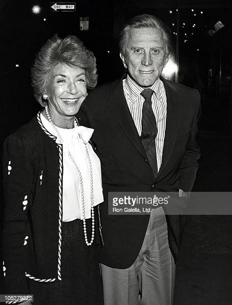 Kirk Douglas and wife Anne during Kirk Douglas and Anne Douglas Sighting at Elaine's Restaurant June 9 1983 at Elaines Restaurant in New York City...