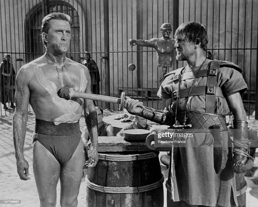 Kirk Douglas In A Scene From The Movie 'Spartacus' Stanley Kubrick In 1960