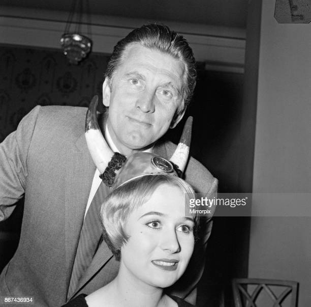 Kirk Douglas with hair creations by Riche of Hay Hill inspired by his latest film 'The Vikings' The event was held at The May Fair Hotel 7th July 1958