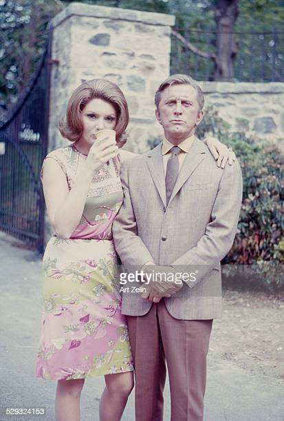 Kirk Douglas with Sylva Koscina They were costars in 'A Lovely Way To Die' circa 1970 New York