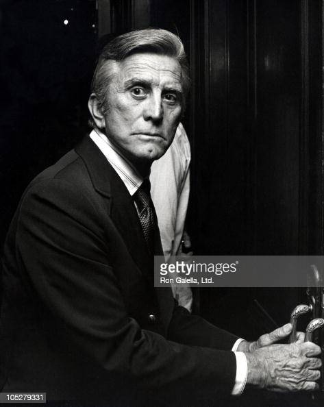 Kirk Doulgas during Kirk Douglas locked out of a private room where TV luncheon was taking place at Beverly Wilshire Hotel in Beverly Hills...