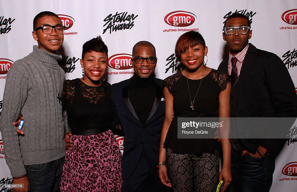 Kirk Franklin (C) and The Walls Group attend the 28th Annual Stellar Awards at Grand Ole Opry House on January 19, 2013 in Nashville, Tennessee.