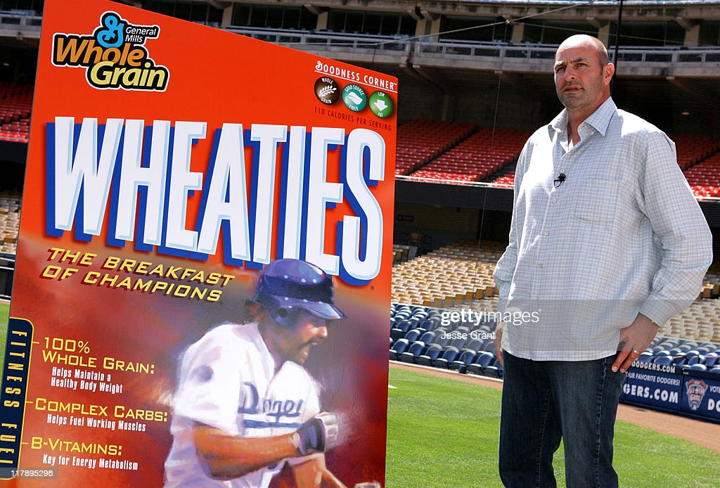 Kirk Gibson during Wheaties Unveils New Cereal Box featuring Kirk Gibson at Dodgers Stadium in Los Angeles, California, United States.