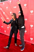 Kirk Hammett and Robert Trujilo of Metallica arrive at the 2014 MusiCares MAP Fund Benefit Concert at Club Nokia on May 12 2014 in Los Angeles...