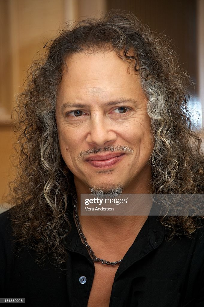 <a gi-track='captionPersonalityLinkClicked' href=/galleries/search?phrase=Kirk+Hammett&family=editorial&specificpeople=204665 ng-click='$event.stopPropagation()'>Kirk Hammett</a> at the 'Metallica: Through The Never' Press Conference at the Fairmont Hotel on September 17, 2013 in San Francisco, California.