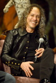 Kirk Hammett of Metallica attends a panel discussion as part of Kirk Von Hammett's Fear FestEvil at the Grand Regency Ballroom on February 7 2014 in...