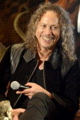Kirk Hammett of Metallica attends a panel discussion as part of Kirk Von Hammett's Fear FestEvil at Grand Regency Ballroom on February 8 2014 in San...