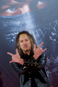 Kirk Hammett of Metallica attends the 'Metallica Through The Never' premiere at the Callao Cinema ME on October 9 2013 in Madrid Spain
