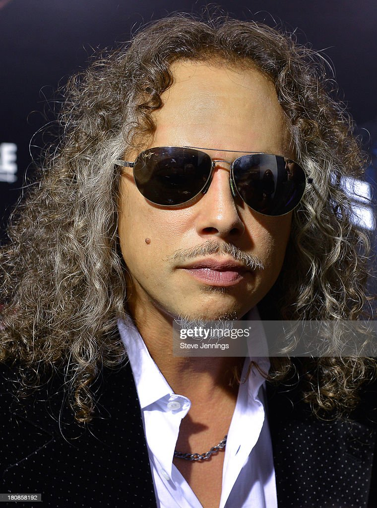 <a gi-track='captionPersonalityLinkClicked' href=/galleries/search?phrase=Kirk+Hammett&family=editorial&specificpeople=204665 ng-click='$event.stopPropagation()'>Kirk Hammett</a> of Metallica attends the San Francisco Premiere of 'Metallica: Throught The Never' at AMC Metreon 16 on September 16, 2013 in San Francisco, California.