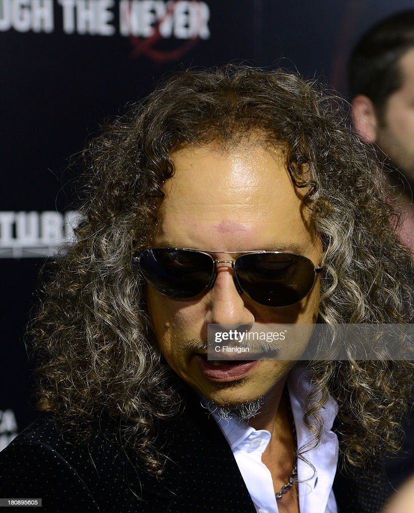 <a gi-track='captionPersonalityLinkClicked' href=/galleries/search?phrase=Kirk+Hammett&family=editorial&specificpeople=204665 ng-click='$event.stopPropagation()'>Kirk Hammett</a> of Metallica attends the U.S. Premiere of Metallica Through The Never at the AMC Metreon on September 16, 2013 in San Francisco, California.