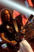 Kirk Hammett of Metallica during 2003 MTV Video Music Awards Rehearsals Day Two at Rockefeller Plaza and Radio City Music Hall in New York City New...