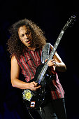 Kirk Hammett of Metallica during Metallica's Summer Sanitarium World Tour 2003 Los Angeles in Los Angeles California United States