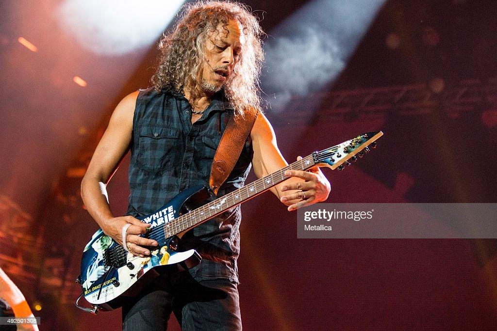 Kirk Hammett of Metallica performing at Bergenhus Fortress on August 20 2015 in Bergen Norway