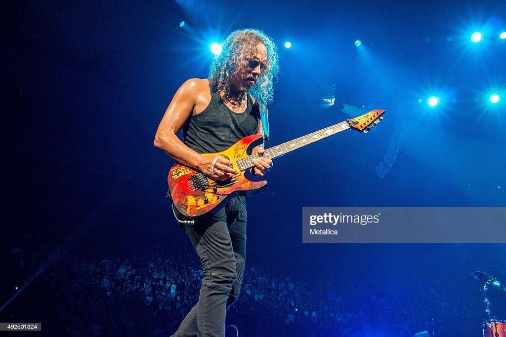 Kirk Hammett of Metallica performing at Centre Videotron on September 16 2015 in Quebec City Canada